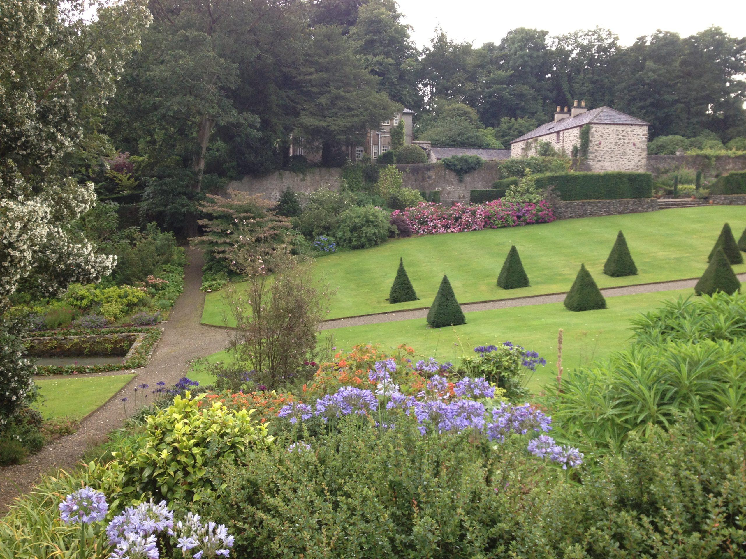Part of the formal garden Plas Cadnant